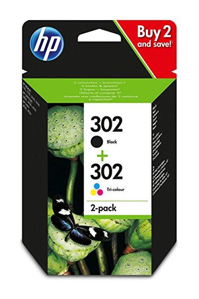 HP 302 Voordeelset BK & kleuren (origineel)