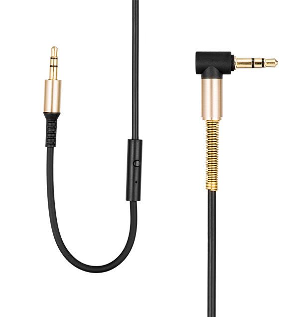 Aux 3,5mm jack kabel met microfoon