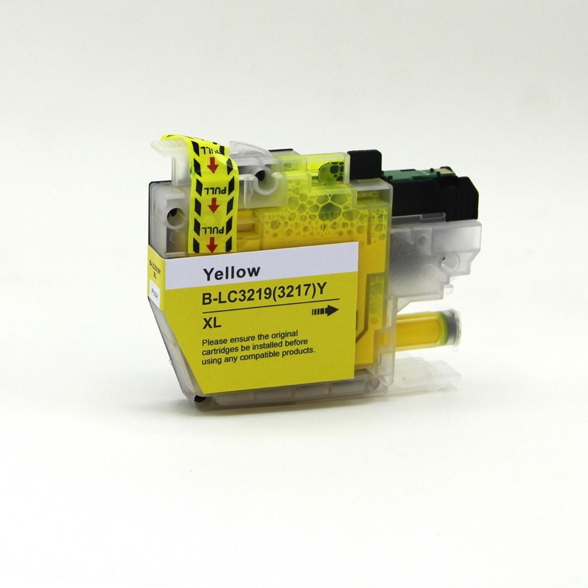 Huismerk Brother LC-3217 / LC-3219 geel