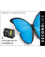 SecondLife - HP 932 XL Black
