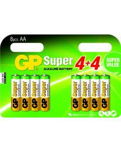 GP Super Alkaline AA Mignon penlite, multipack 8