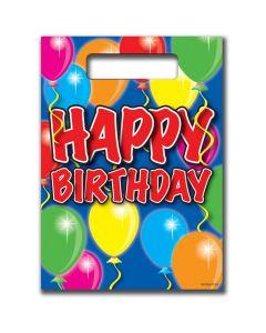 Happy Birthday Uitdeelzakjes Balloons - 8 stuks