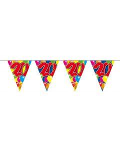 20 Jaar Vlaggenlijn Balloons - 10 meter