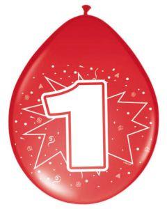 1 Jaar Ballonnen - 8 stuks