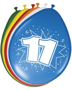 11 Jaar Ballonnen 30cm 8 stuks
