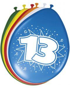 13 Jaar Ballonnen 30cm 8 stuks