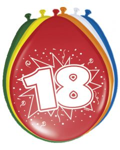 18 Jaar Ballonnen - 8 stuks