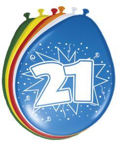 21 Jaar Ballonnen - 8 stuks