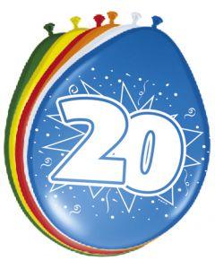 20 Jaar Ballonnen 30cm 8 stuks