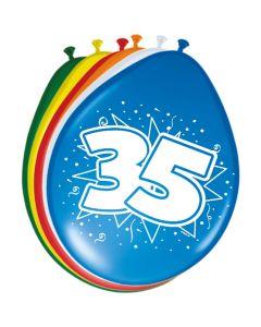 35 Jaar Ballonnen 30cm 8 stuks