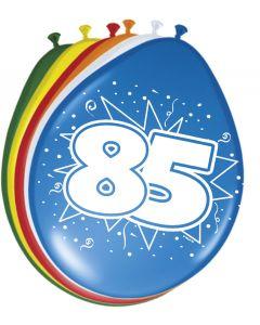 85 Jaar Ballonnen 30cm 8 stuks