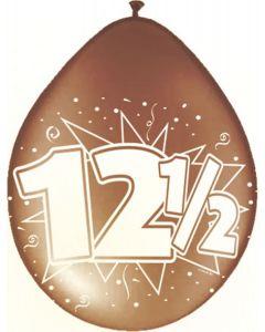 12,5 Jaar Ballonnen Koperen jubileum - 8 stuks