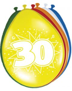 30 Jaar Ballonnen - 8 stuks