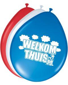 Welkom Thuis ballonnen - 8 stuks