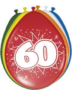60 Jaar Ballonnen - 8 stuks