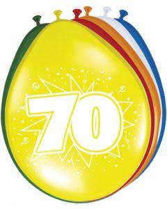 70 Jaar Ballonnen - 8 stuks