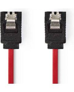 SATA kabel 0,5m - 7pins - 3Gbps - met vergrendling - Rood