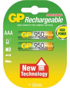 GP NiMH oplaadbare AAA Micro penlite (950 series), blister 4