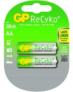 GP ReCyko+ oplaadbare AA Mignon penlite (2000mAh), blister 2