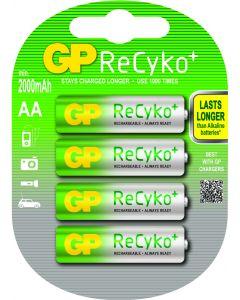 GP ReCyko+ oplaadbare AA Mignon penlite (2000mAh), blister 4