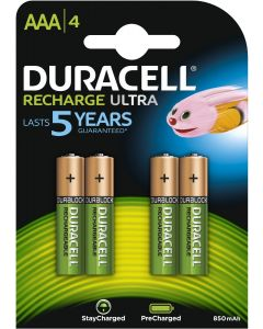 Duracell Rechargeable NimH Stay Charged AAA/HR03 900mAh blister 4