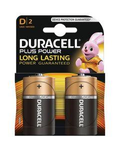 Duracell Plus Power Duralock Alkaline D/LR20 blister 2