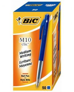 Bic M10 balpen medium, blauw, doos à 50 stuks