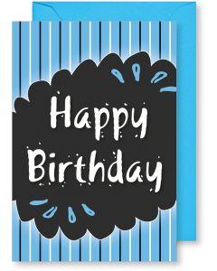 6 Wenskaarten met envelop - Happy Birthday (12x17.5 cm)