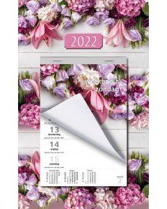 Week Scheurkalender 2022 (week begint op Zondag)