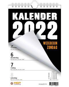 Weekblok 2022 met Wire-O binding (week begint op Zondag)