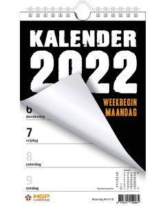 Weekblok 2022 met Wire-O binding (week begint op Maandag)