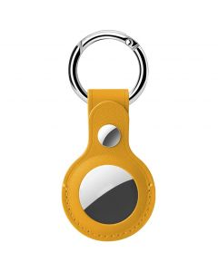 Hoco Protective Leather Keychain for Airtag - Yellow