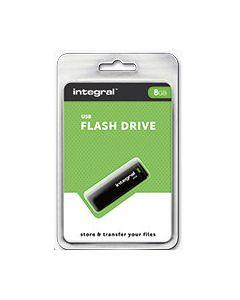 8GB 2.0 USB Green Flash Drive