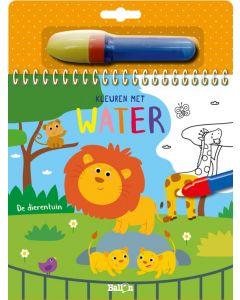 De dierentuin - Kleuren met water