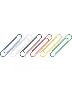 paperclips Alco 50mm rond assorti doos 30st.
