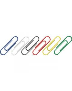 paperclips Alco 26mm rond doos 100st. assorti
