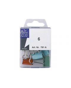 papierklem Alco 19mm assorti vernikkeld doos 6st.
