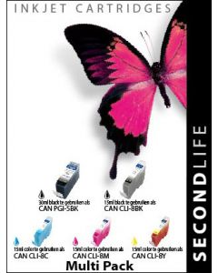 SecondLife - Multipack Canon 5 Black & 8 Serie