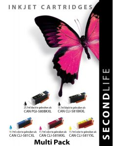 SecondLife - Multipack Canon 580/581 serie