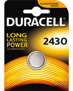 Duracell Lithium knoopcel CR2430, blister 1