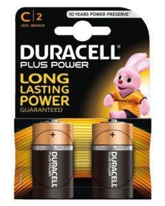 Duracell Plus Power Duralock Alkaline C/LR14 blister 2