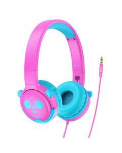 Hoco W31 Hoofdtelefoon voor kinderen - Roze