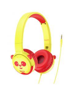 Hoco W31 Hoofdtelefoon voor kinderen - Geel