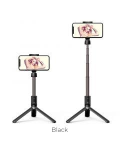 Hoco Bluetooth Wireless Tripod Selfie Stand with Remote - Black