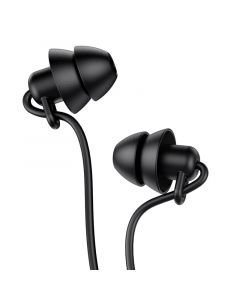 Hoco Mini In-Ear Silicone Sleep Oordopjes 3,5mm - Zwart
