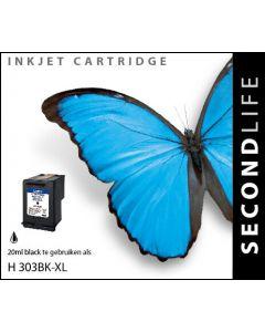 SecondLife - HP 303 XL Black