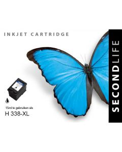 SecondLife - HP 338 XL Black