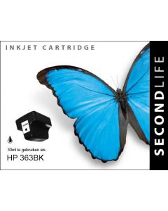 SecondLife - HP 363 XL Black