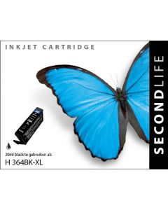 SecondLife - HP 364 XL Black