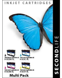 SecondLife - Multipack HP 932 / 933 BK, C, M en Y